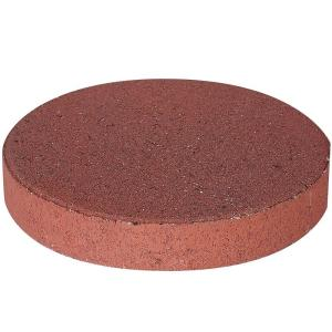 Pavestone 12 In X 1 75 River Red Round Concrete Step Stone 71351 The Home Depot