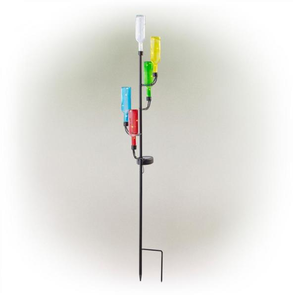 37 in. Tall Solar Glass Bottle Tree Stake