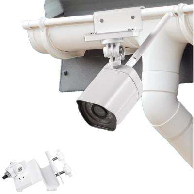 Weatherproof Gutter Mount Zmodo Outdoor Camera, White