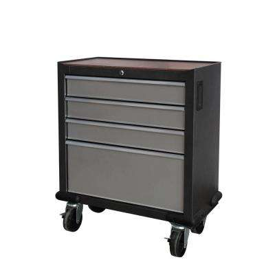 GOSII 28 in. 4-Drawer Tool Cabinet, Gray