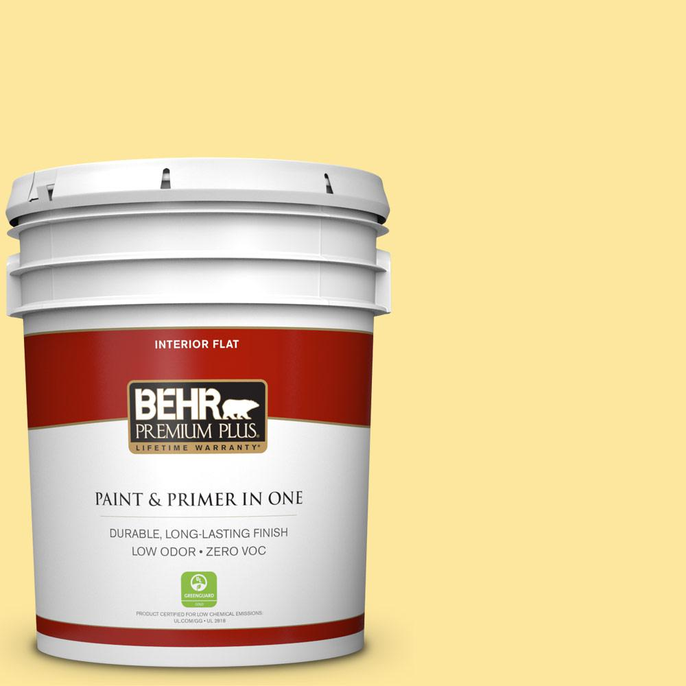 BEHR Premium Plus 5-gal. #380A-3 Summer Harvest Zero VOC Flat Interior Paint