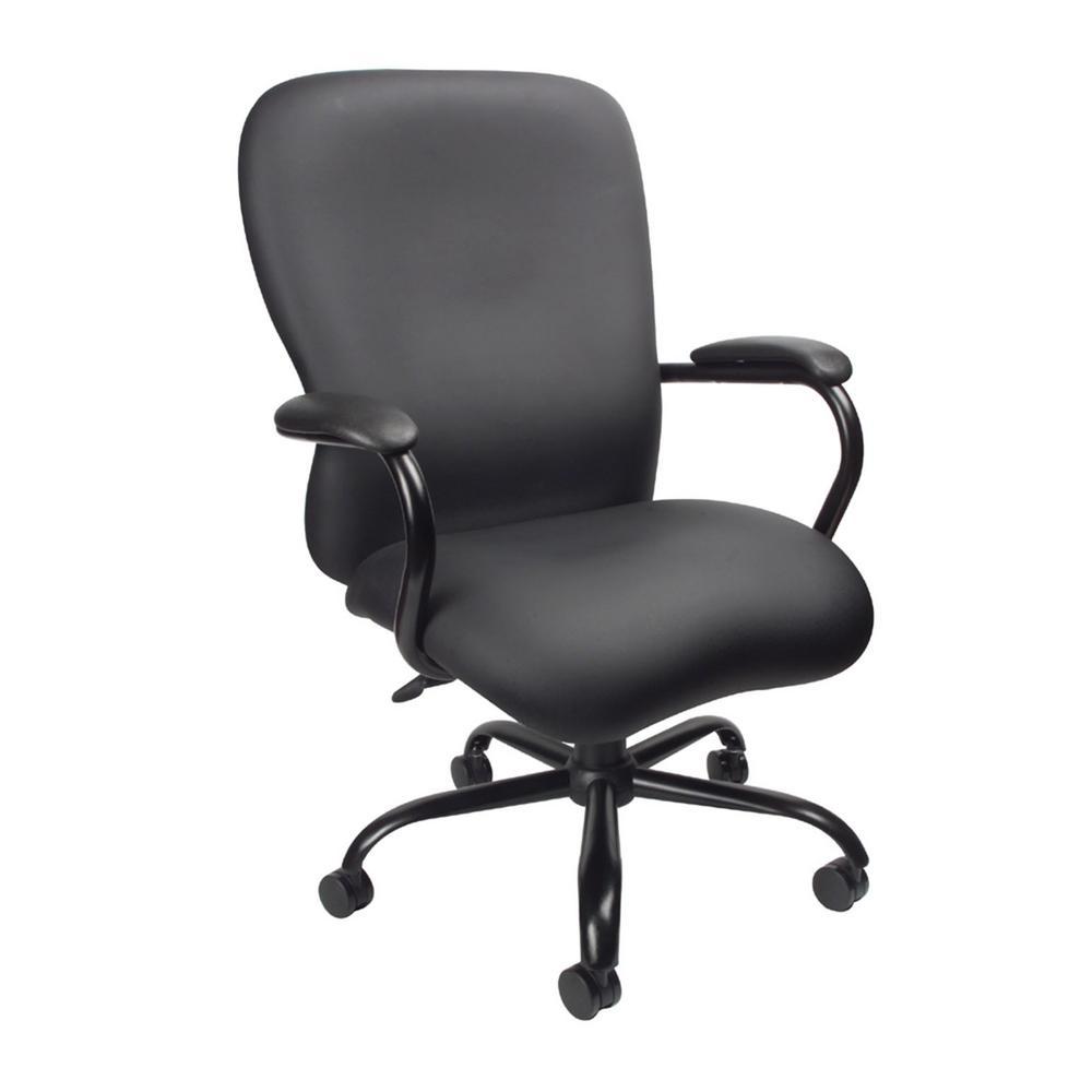 Black Heavy Duty 350 lbs. Caressoft Plus Chair