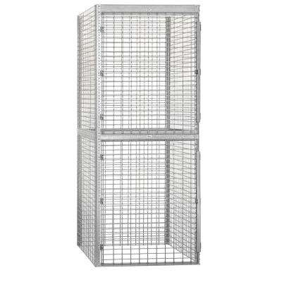 8200 Series 36 in. W x 90 in. H x 48 in. D 2-Tier Bulk Storage Locker Starter in Aluminum