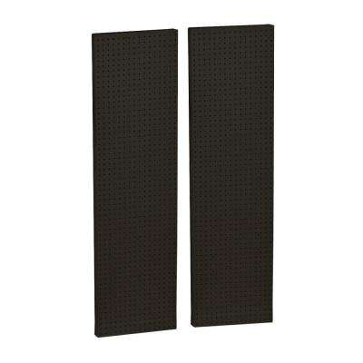 60 in. H x 16 in. W Pegboard Black Styrene One Sided Panel (2-Pieces per Box)
