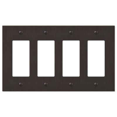 Barnard 4 Gang Rocker Metal Wall Plate - Aged Bronze