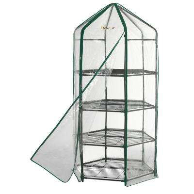 38 in. W x 38 in. D Ultra-Deluxe 4-Tier Hexagonal Flower Planthouse