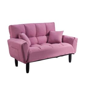 Magnificent Harper Bright Designs Pink Chic Loveseat Sleeper Sofa Onthecornerstone Fun Painted Chair Ideas Images Onthecornerstoneorg