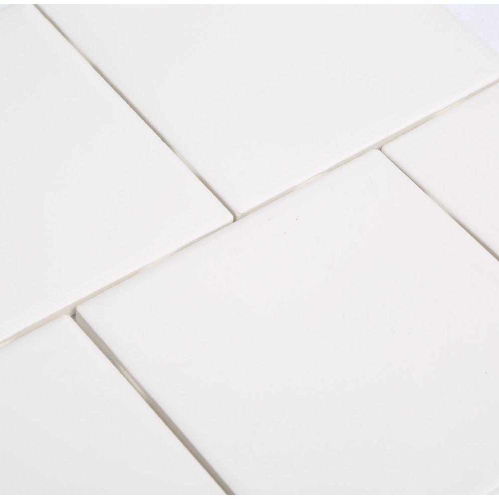Daltile Semi Gloss White 4 1 In X