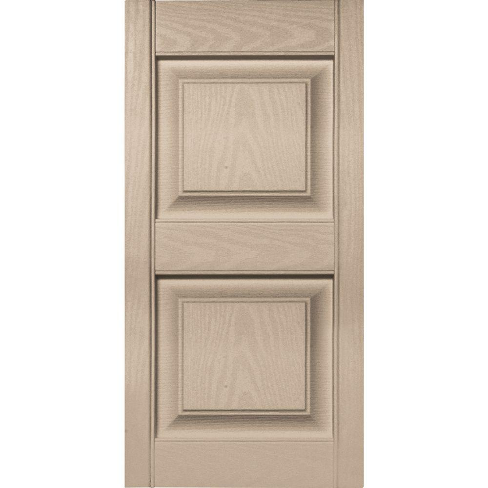 Raised Panel Vinyl Exterior Shutters Pair