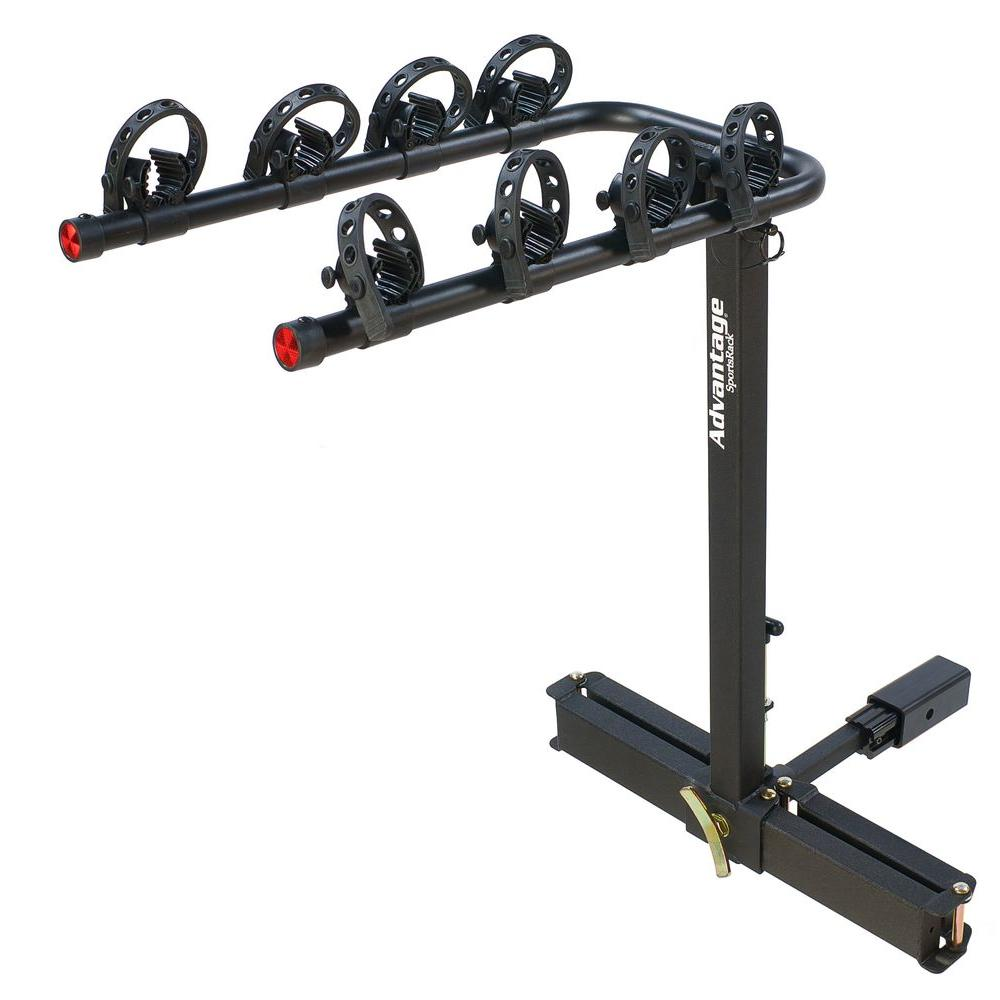 Receiver Hitch Bike Rack >> Advantage Sportsrack Glideaway2 Deluxe 4 Bike Rack 2110 The Home Depot