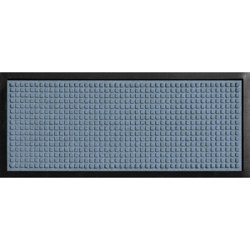 bungalow flooring aqua shield boot tray squares bluestone 15 in x 36 in door mat 20447581536. Black Bedroom Furniture Sets. Home Design Ideas