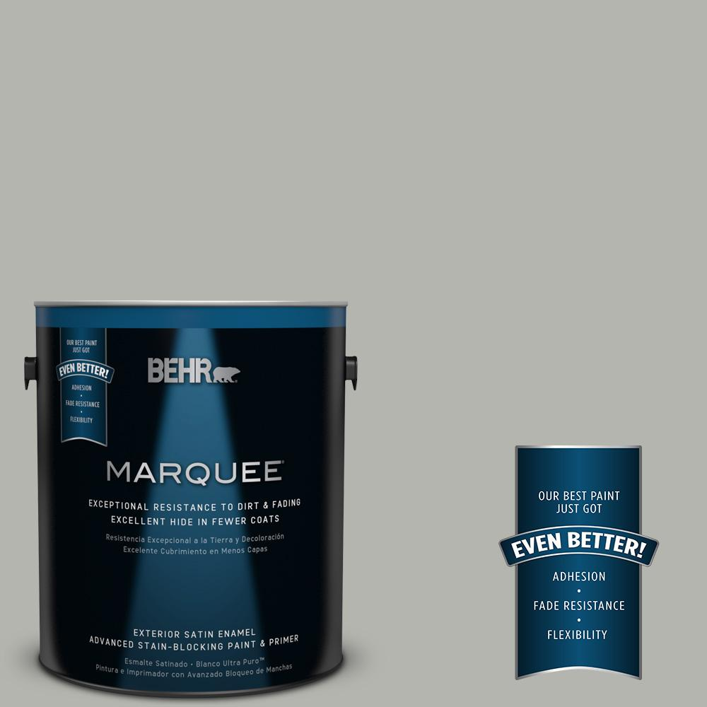 1 gal. #PPU25-08 Heirloom Silver Satin Enamel Exterior Paint