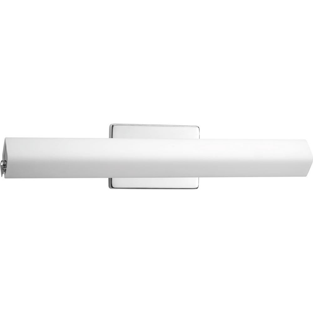 Wedge Collection 35-Watt Polished Chrome Integrated LED Linear Bathroom Vanity