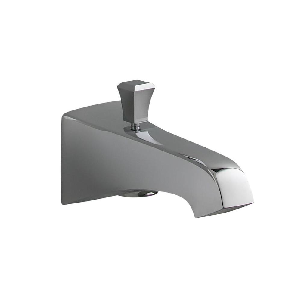 Memoirs Wall-Mount Diverter Bath Spout in Polished Chrome