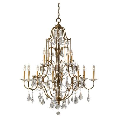 Valentina 12-Light Oxidized Bronze Chandelier