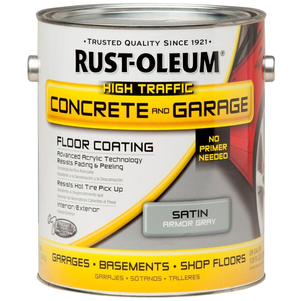 Rust-Oleum 1 gal. Armor Gray Concrete Floor Paint (Case of 2)