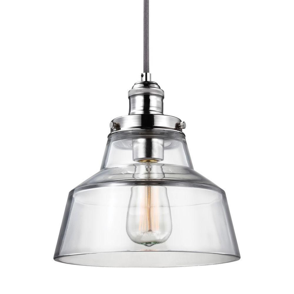 Feiss Baskin 1 Light Polished Nickel Pendant P1348pn