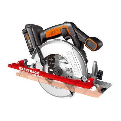 20-Volt 6-1/2 in. Circular Saw ExacTrack