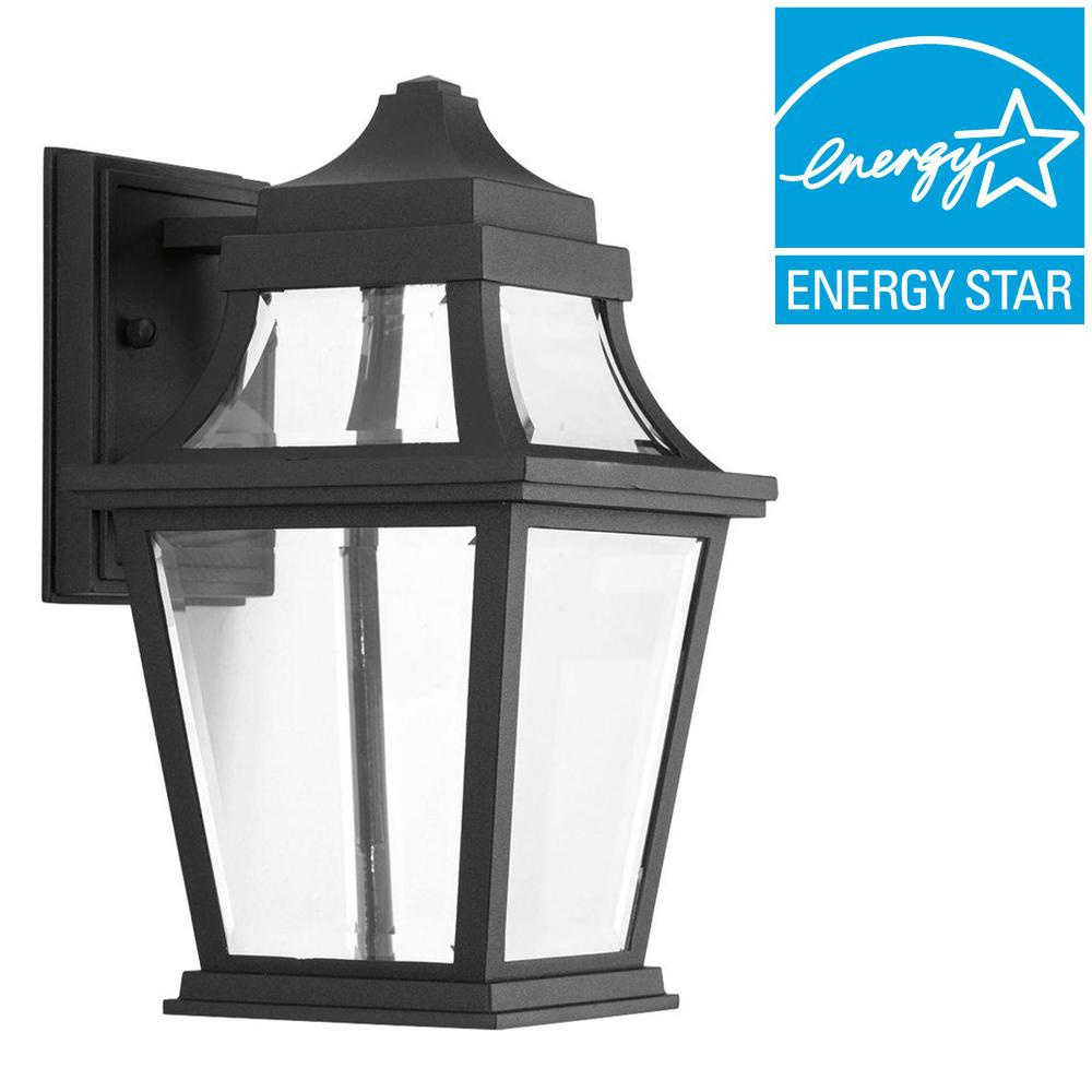 Progress Lighting Endorse Collection 1 Light Outdoor Black LED Wall Lantern P6056 3130K9