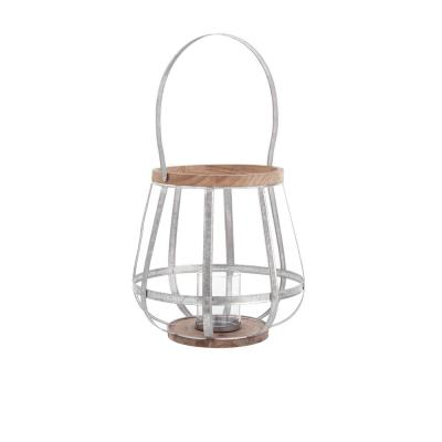 22 in. Outdoor Mixed Material Lantern