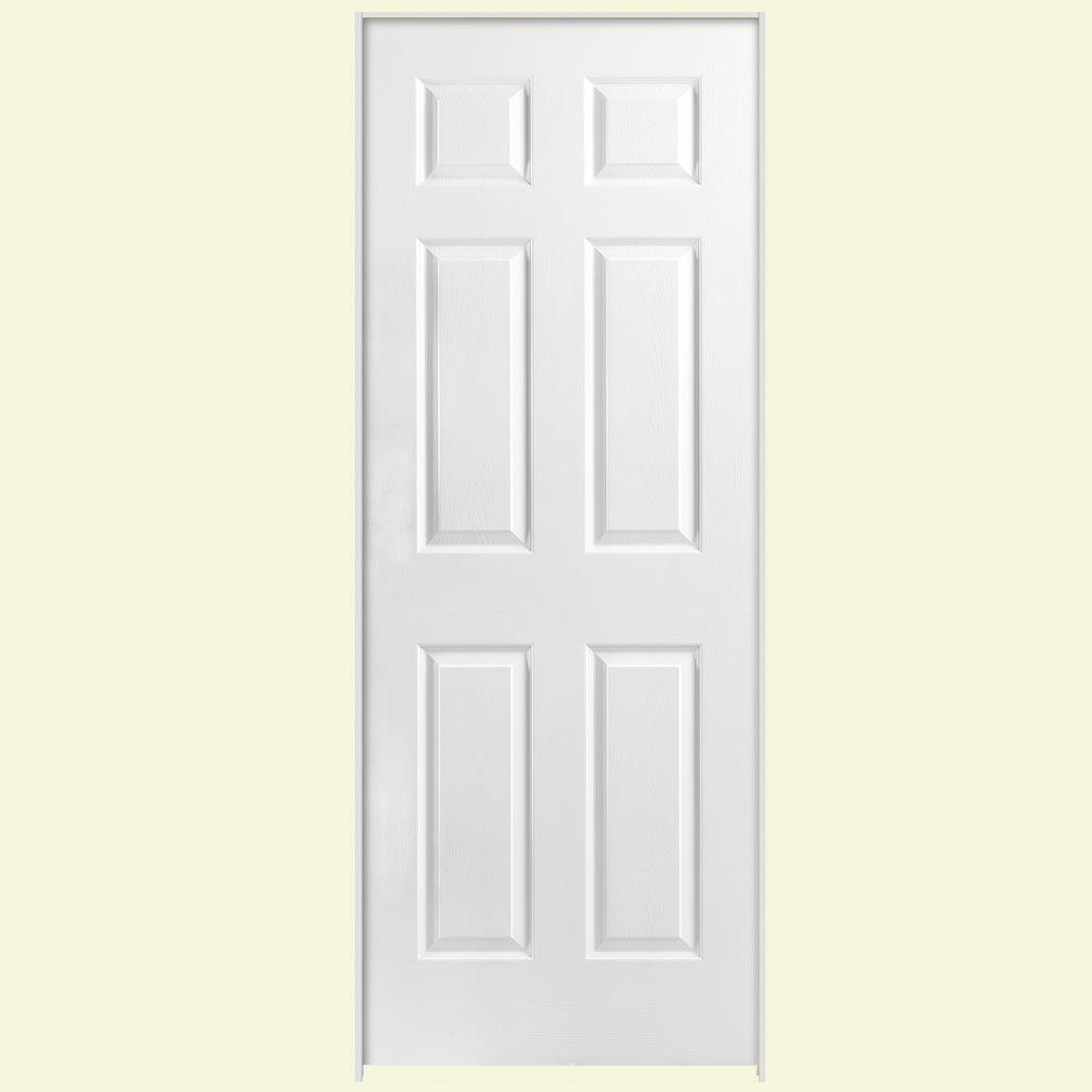 Masonite 36 In X 80 In Solidoor 6 Panel Right Handed Solid Core Textured Primed Composite
