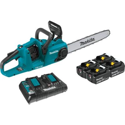18-Volt X2 (36-Volt) LXT Lithium-Ion Brushless Cordless 16 in. Chain Saw Kit with 4 Batteries (5.0 Ah)