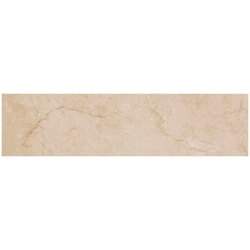 MARAZZI VitaElegante Crema 6 in. x 24 in. Porcelain Floor and Wall Tile (14.53 sq. ft. / case)