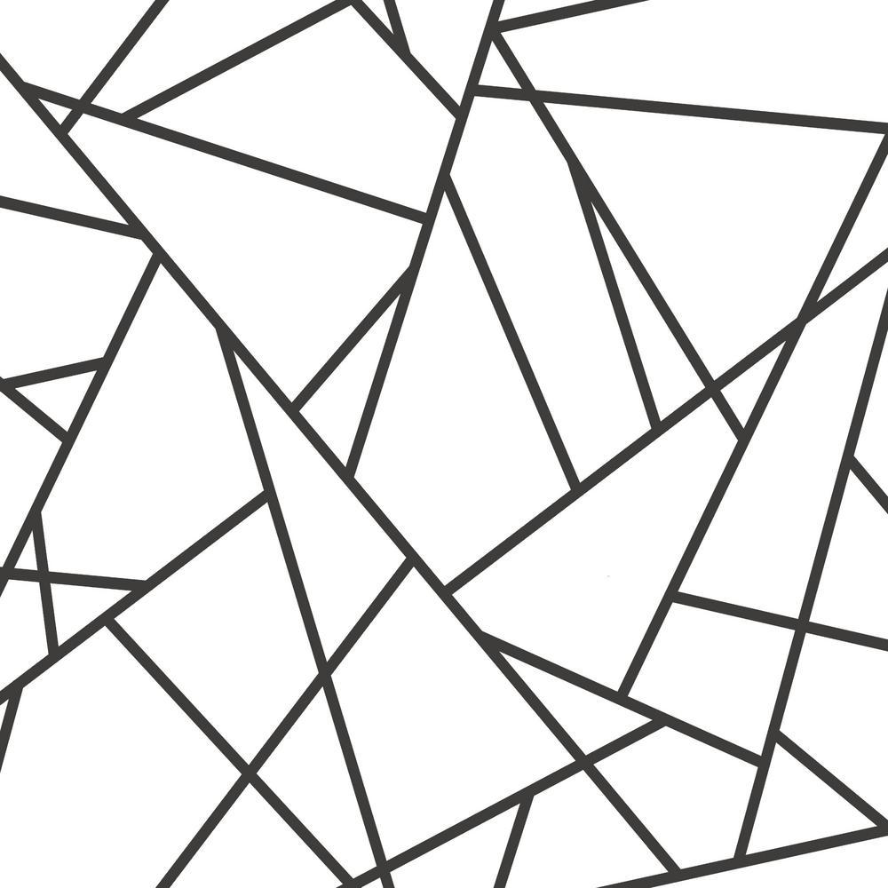 Black Fracture Vinyl Peelable Wallpaper (Covers 28.18 sq. ft.)