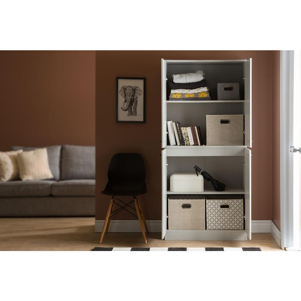 South Shore Axess Soft Gray Storage Cabinet-10193 - The ...