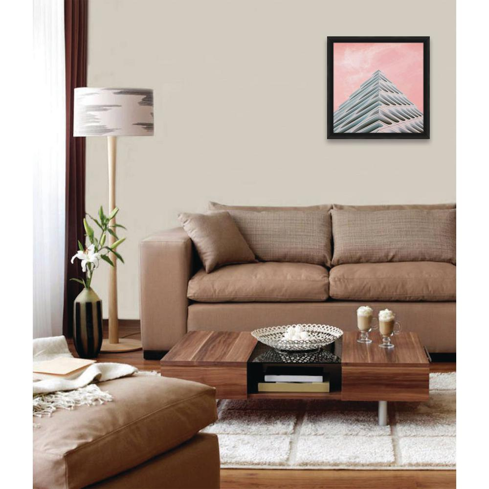 16.5 in. x 16.5 in. ''PINK SKY'' By PTM Images Framed