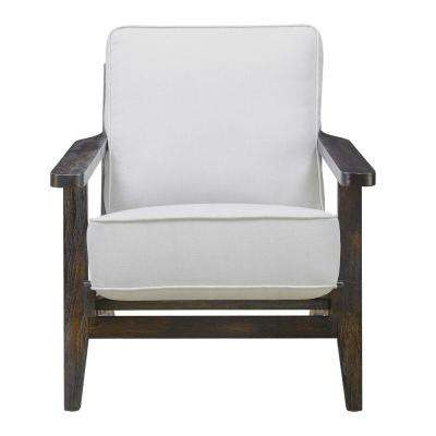 Mercer Accent Chair in Taupe w/ Espresso Legs