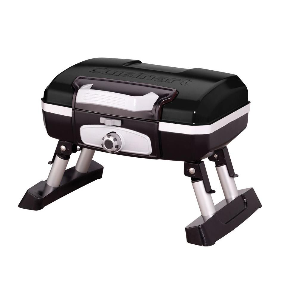 Cuisinart Petit Gourmet 1-Burner Tabletop Portable Propane Gas Grill in Black