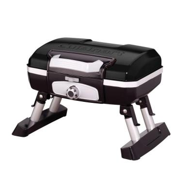 Petit Gourmet 1-Burner Tabletop Portable Propane Gas Grill in Black