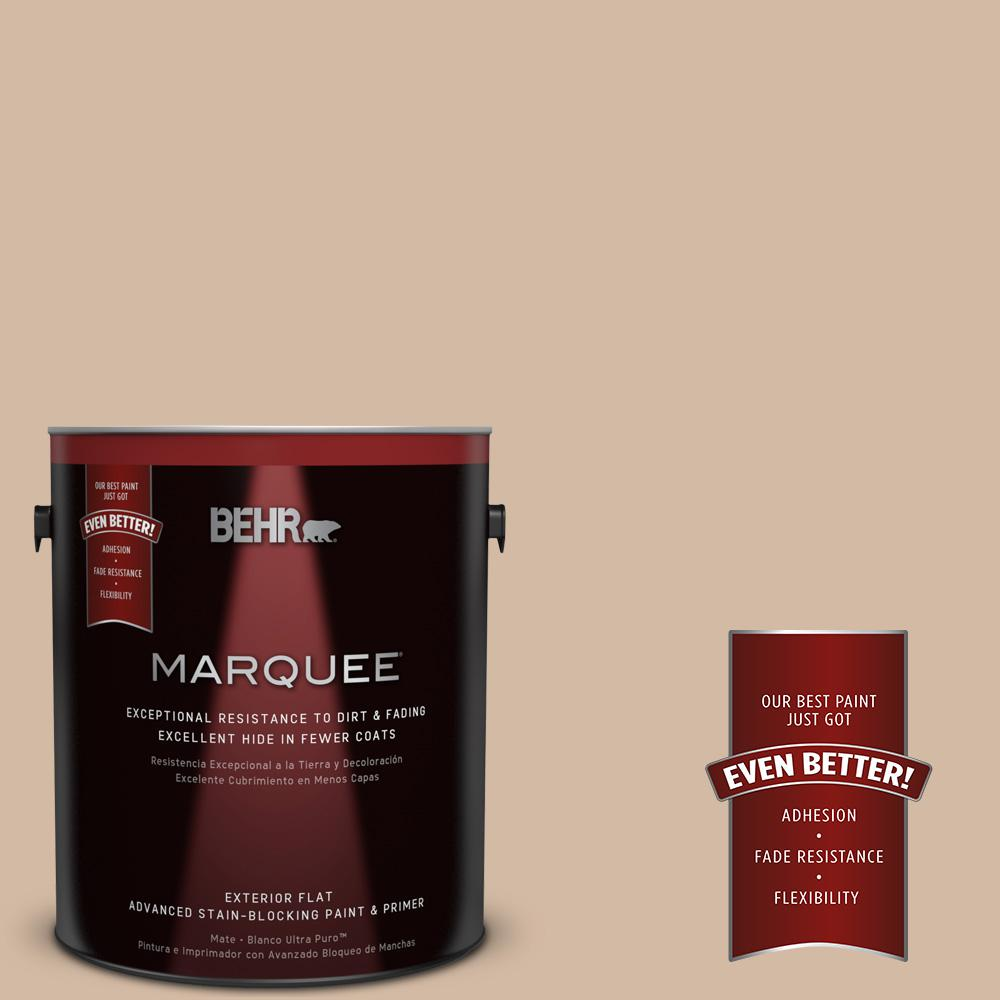 1-gal. #290E-3 Classic Taupe Flat Exterior Paint