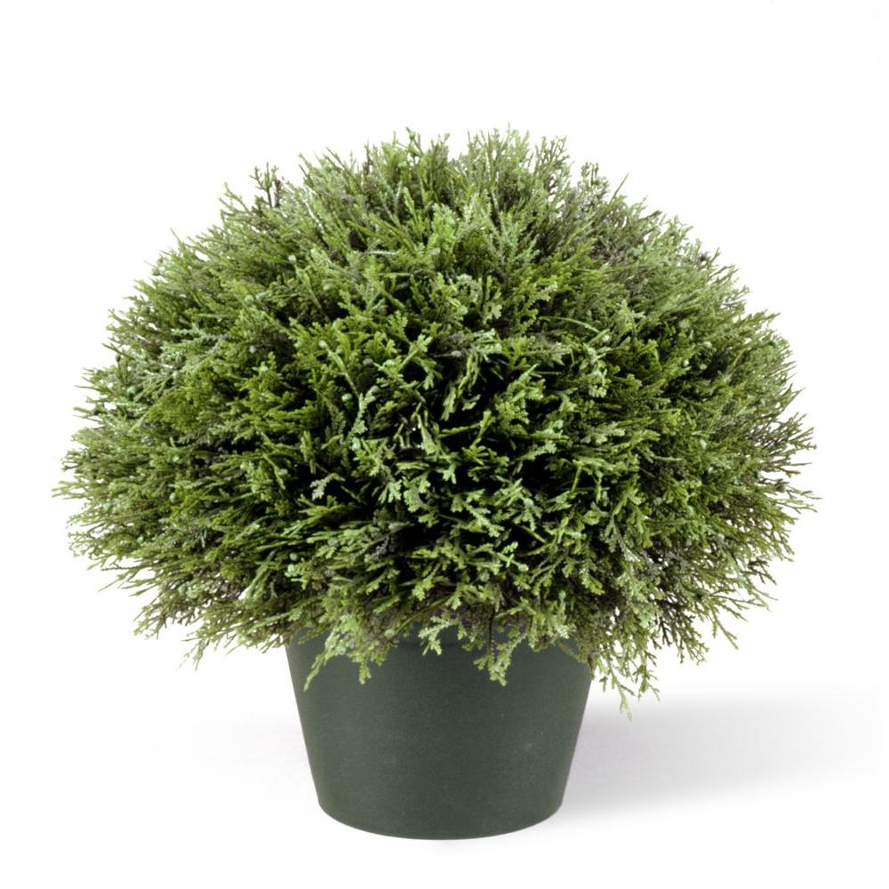 15 in. Juniper Bush in Dark Green Round Growers Pot