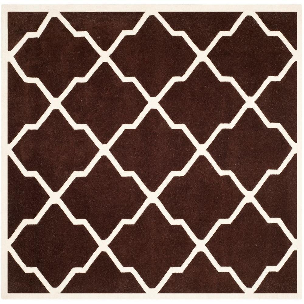 Safavieh Chatham Dark Brown/Ivory 7 ft. x 7 ft. Square Area Rug
