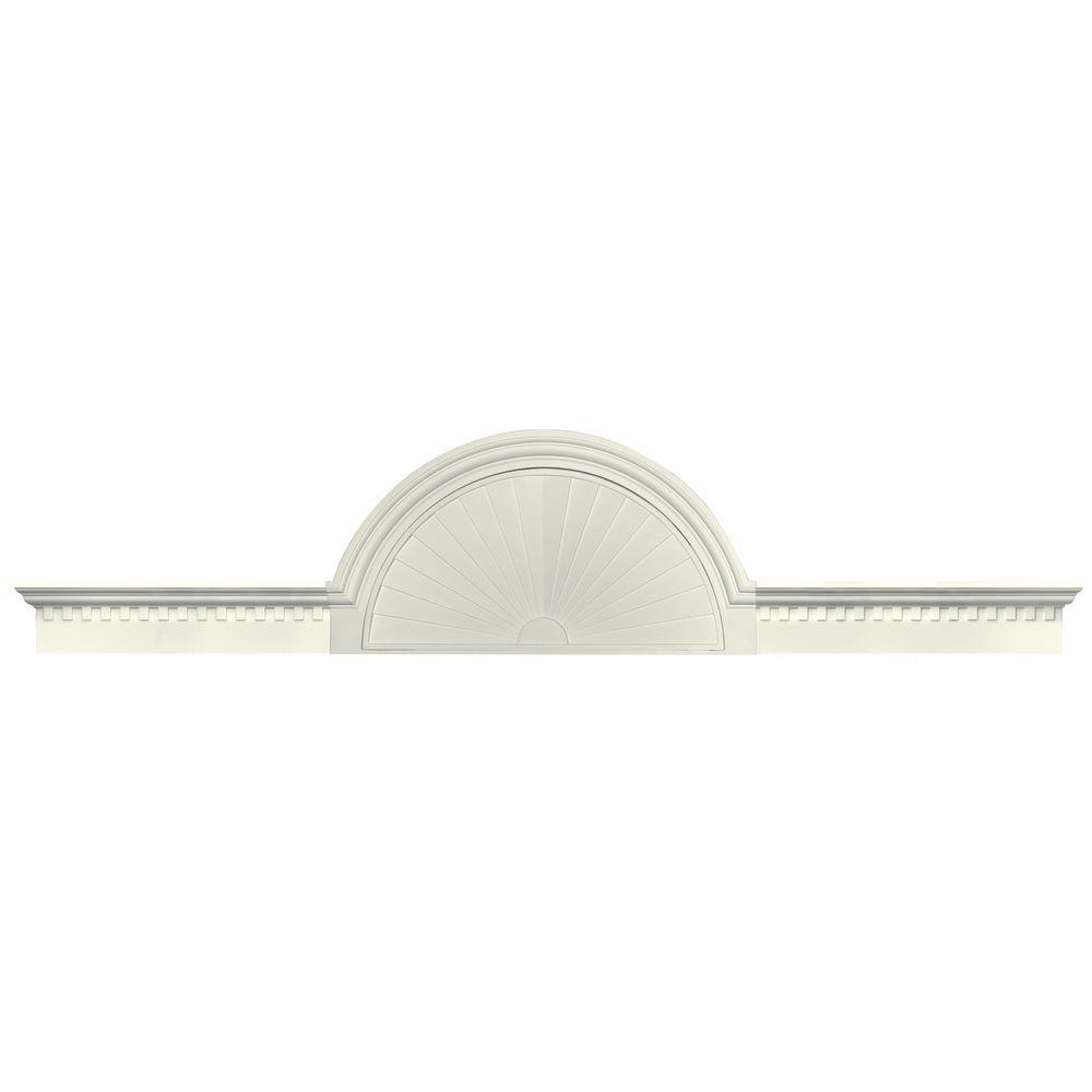 Builders Edge 70 in. - 106 in. Classic Dentil Panel Window and Door Accent in 034 Parchment-DISCONTINUED