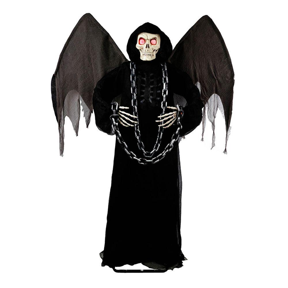 72 in. Winged Angel of Death Grim Reaper with LED Illumination