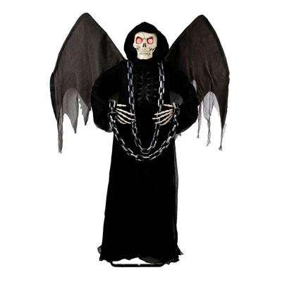72 in winged angel of death grim reaper with led illumination