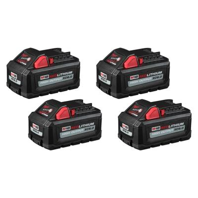 M18 18-Volt Lithium-Ion High Output 6.0Ah Battery Pack (4-Pack)