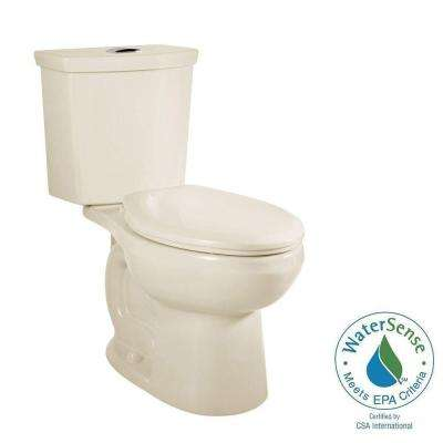 H2Option 2-piece 0.92/1.28 GPF Dual Flush Elongated Toilet with Liner in Linen