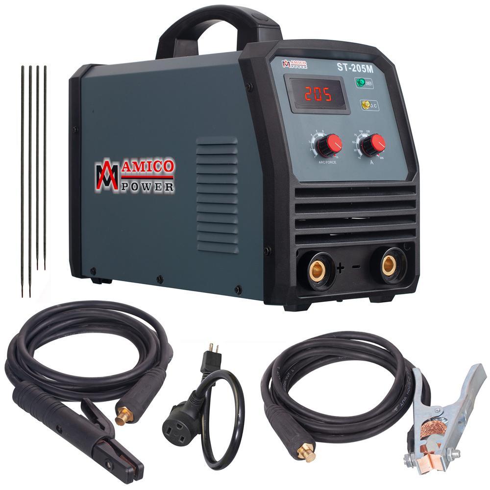 Amico 205 Amp Stick/ARC/Lift-Tig 2-in-1 DC Inverter Welder 115/230-Volt Dual Voltage Welding Machine New