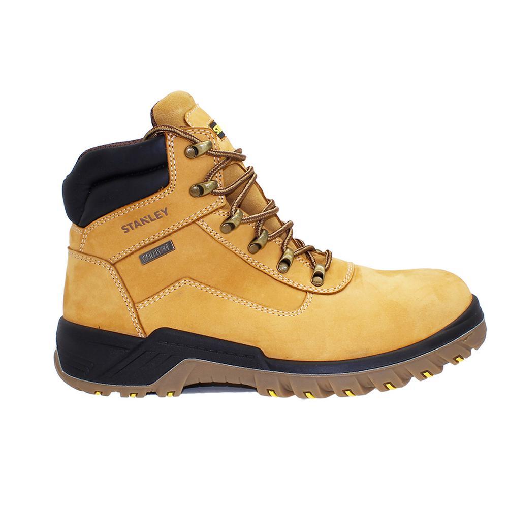 Outback Men 6 in. Size 10 Wheat Leather Steel Toe Waterproof Work Boot