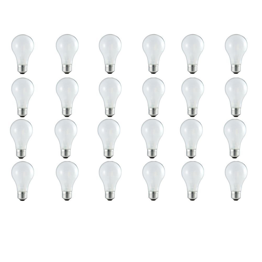 Philips 100-Watt Equivalent A19 Dimmable Eco Incandescent Light Bulb (Halogen) Soft White (3000K) (24-Pack)