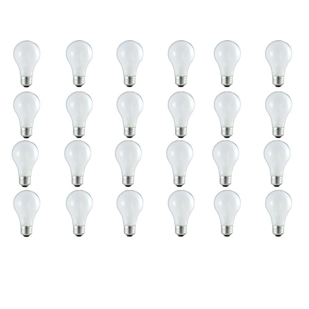 100-Watt Equivalent A19 Dimmable Eco Incandescent Light Bulb (Halogen) Soft White (3000K) (24-Pack)