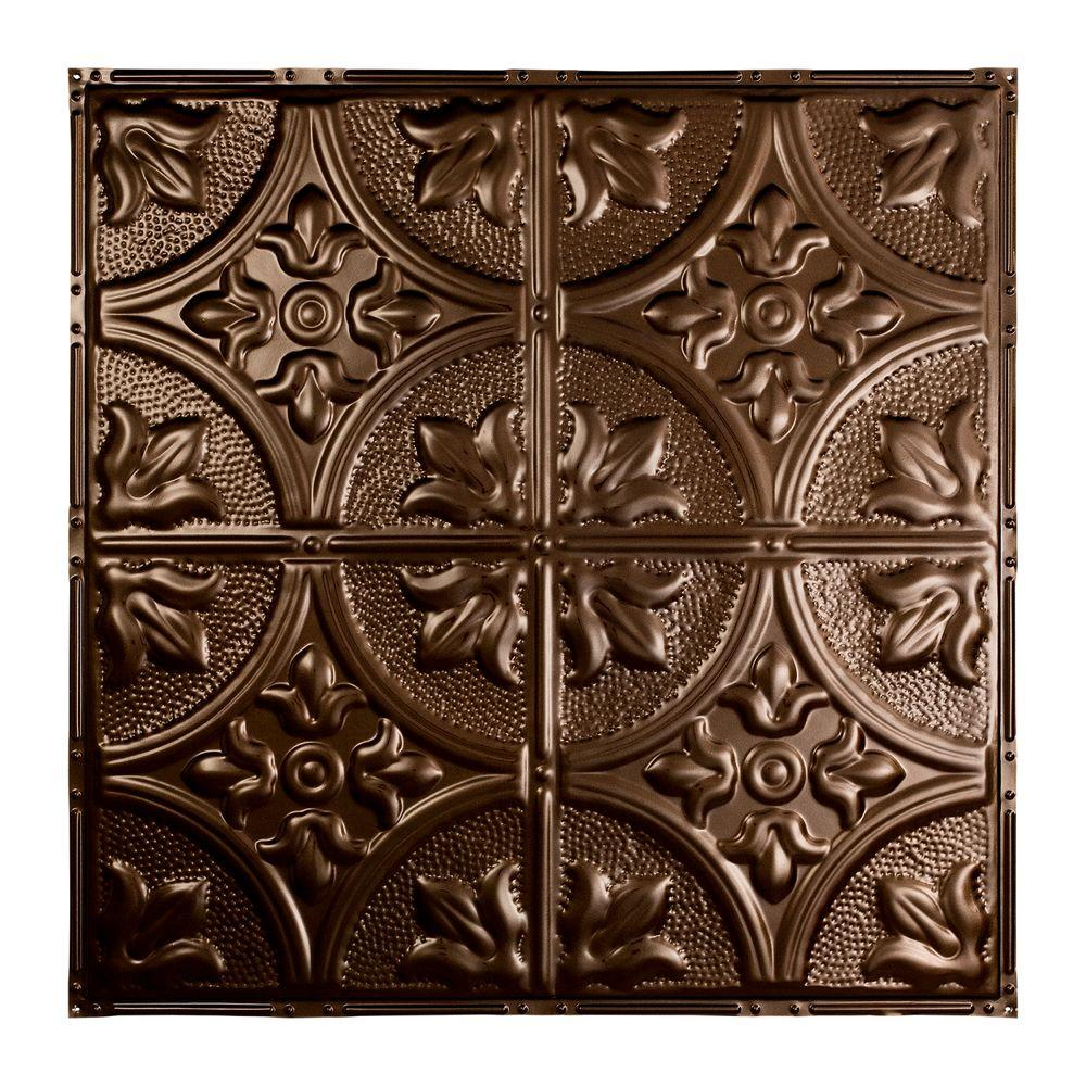 Nail Up Tin Ceiling Tile In Bronze Burst