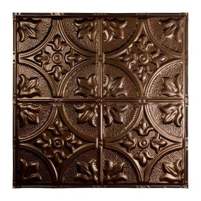 Jamestown 2 ft. x 2 ft. Nail-up Tin Ceiling Tile in Bronze Burst