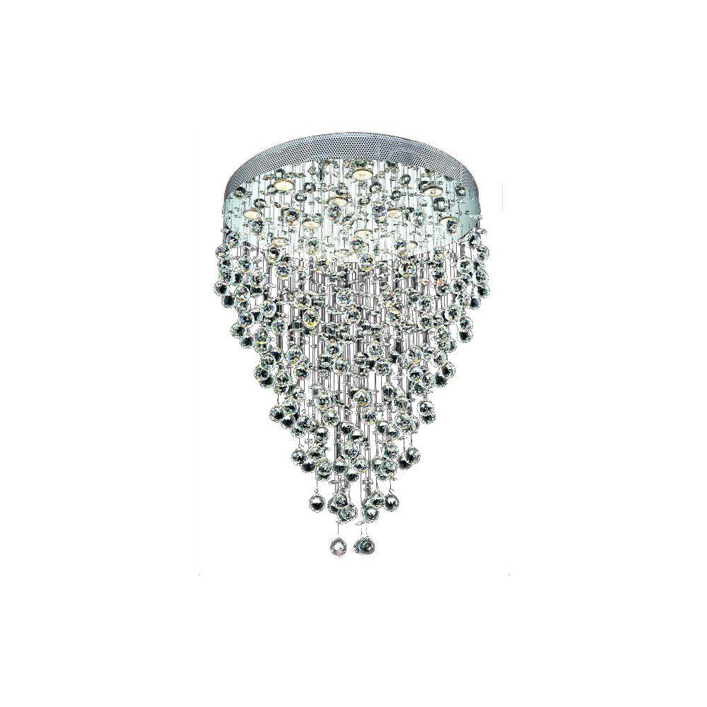Goldenage USA 12-Light Contemporary Chandelier with Crystal Balls in Chrome Finish-DISCONTINUED