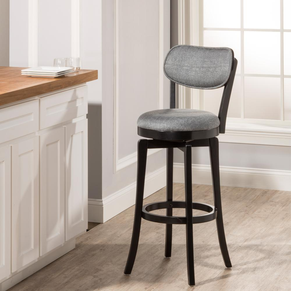 hillsdale furniture sloan 25 in. black swivel cushioned bar stool 25 Inch Bar Stools