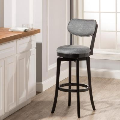 Sloan 25 in. Swivel Counter Stool in Black